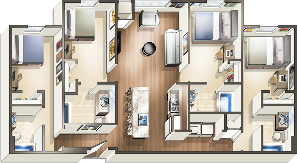 Modern Off Campus Apartments Near UWF | The Next Apartments